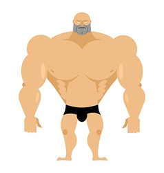 Bodybuilder on a white background Strong big man vector image