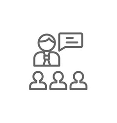 Boss outline icon elements business line icon vector