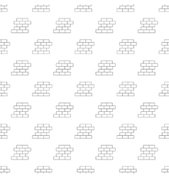 Brick wall pattern seamless vector