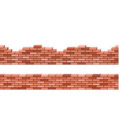brick walls 3d view set seamless pattern vector image