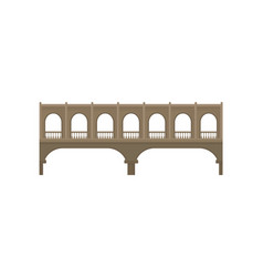 Bridge concept building symbol on white vector