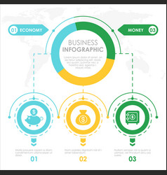 Business concept infographic template colorful vector