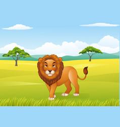 Cartoon lion mascot vector