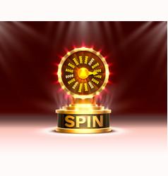casino spin colorful fortune wheel scene vector image