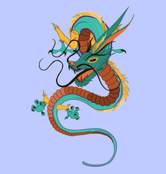 chinese dragon flat vector image