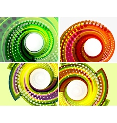 Colorful abstract swirl background set vector image vector image