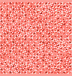 coral pink geometric mosaic pattern background vector image