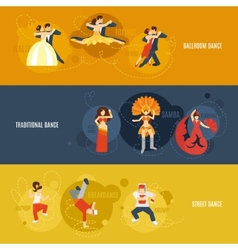Dance Banner Set vector image