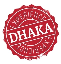 Dhaka stamp rubber grunge vector
