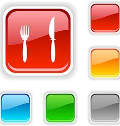 Dinner button vector