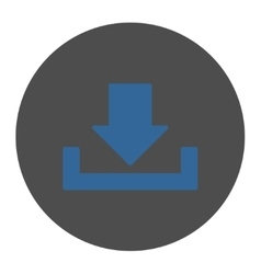 Download flat cobalt and gray colors round button vector