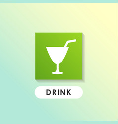drink sign icon design vector image
