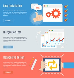 Element of computer concept icon in flat design vector