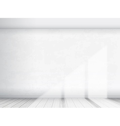 Empty interior with white wall vector
