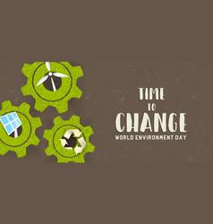 environment day card green technology concept vector image