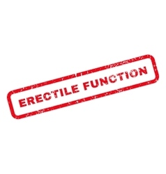 Erectile Function Text Rubber Stamp vector