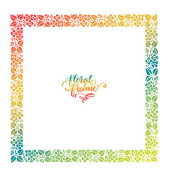 exclusive floral frame vector image