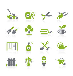 Gardening icons natura series vector