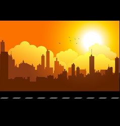 Graphic of a cityscape vector