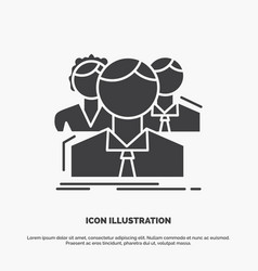 Group multiplayer people team online icon glyph vector