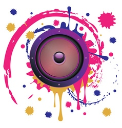 Grunge Audio Speaker4 vector image