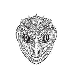 head a reptilian humanoid or anthropomorphic vector image