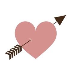 heart cartoon with arrow icon image vector image