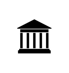 house with columns icon building bank vector image