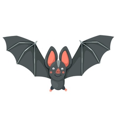 Isolated cartoon bat flying vector