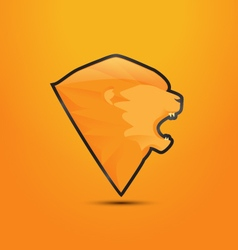 Lion logo design vector image