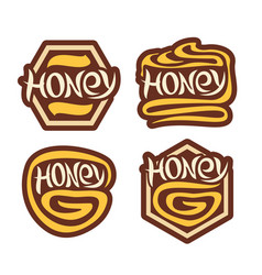 Logo honey vector
