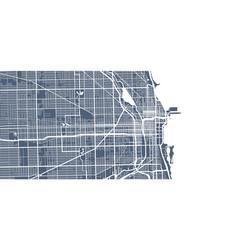 Map chicago street art poster vector