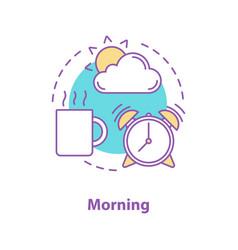 Morning concept icon vector
