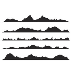 mountains silhouettes vector image