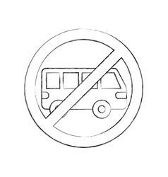 No car or no parking sign prohibit vector