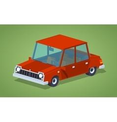 Old red sedan vector