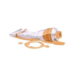 paint tube l vector image