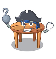 Pirate character wooden table in the restaurant vector