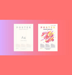 poster template for business and cover modern vector image