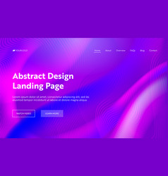 purple abstract wavy shape landing page background vector image
