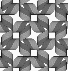 Ribbons dark and light forming bows pattern vector