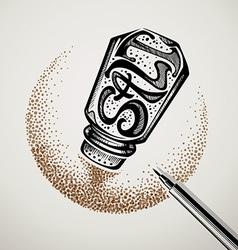 saltshaker typography logo design vector image
