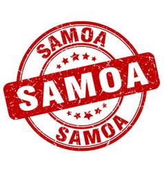 Samoa stamp vector