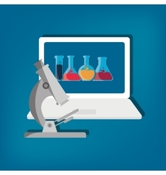 Science technology research vector image