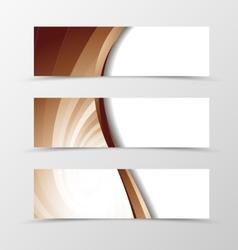 Set of banner vortex design vector image
