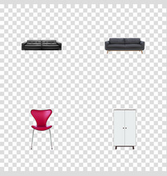 Set of design realistic symbols with lounge vector