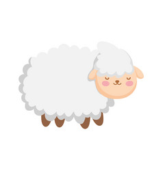 Sheep farm animal cartoon icon vector