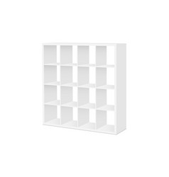 shelving stand mockup isolated vector image