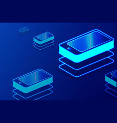 smart phone digital gadget touchscreen mobile vector image