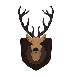 Stuffed taxidermy deer head vector